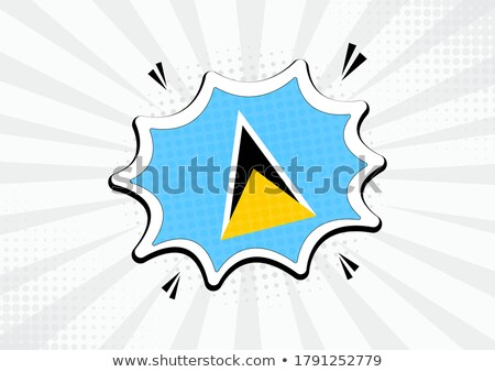 Saint Lucia flag speech bubble Stock photo © daboost