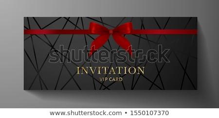 Сток-фото: роскошь · серебро · Подарочный · сертификат · современный · стиль · эксклюзивный