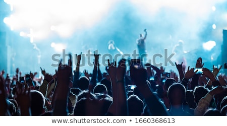 Fans muziek band live Stockfoto © stevanovicigor