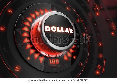 Dolar siyah konsol kontrol kırmızı arka ışık Stok fotoğraf © tashatuvango