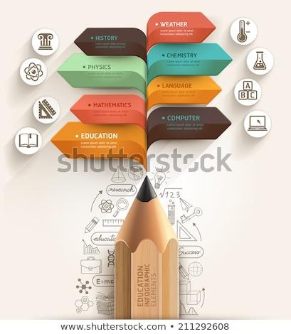 Crayon connecter mains Creative éducation résumé Photo stock © vgarts