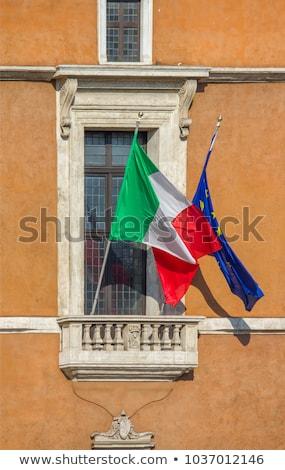 Piazza venezia in Rome, Italy, building balcony where it speak D Stock photo © vladacanon