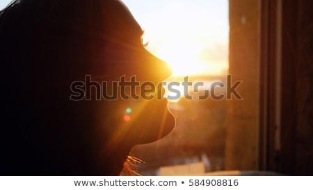 vista · posterior · retrato · mirando · ventana · negocios - foto stock © deandrobot