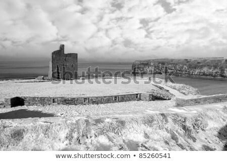 ballybunion castle black rocks stock photo © morrbyte