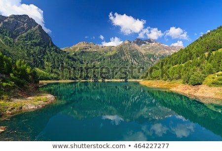 trentino   pian palu lake stock photo © antonio-s