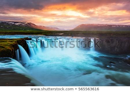 Coucher du soleil plateau nord Islande nuages neige Photo stock © suerob