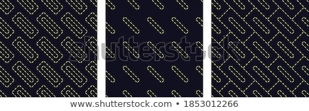 hand-drawn rectangle and square white shapes over black Stock photo © Melvin07