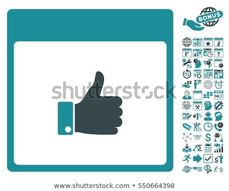 thumbs up blue sticky notes vector icon design stock photo © rizwanali3d