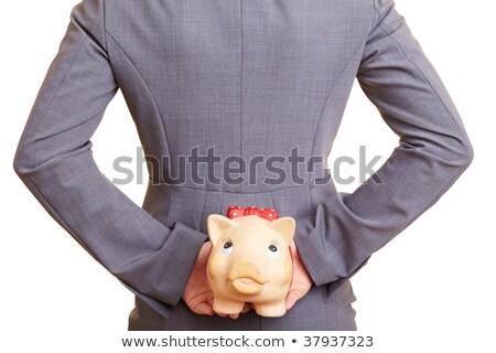 女性実業家 隠蔽 お金 スーツ 白 女性 ストックフォト © wavebreak_media