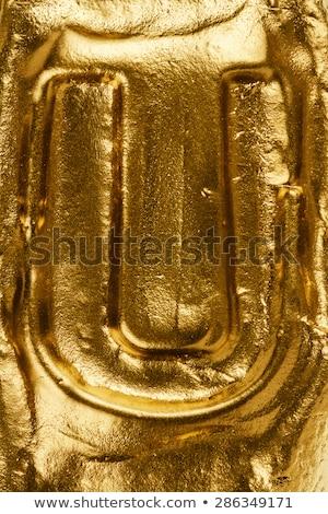 Kézzel készített kerámia levél festett arany izolált Stock fotó © Taigi