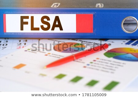 Office folder with inscription Clients. Stock photo © tashatuvango