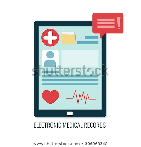Medical Records and Medical Services Icon. Flat Design. Stock photo © WaD