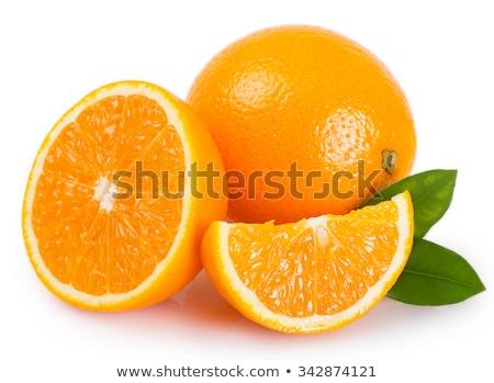 Sinaasappelen geïsoleerd witte tuin schoonheid oranje Stockfoto © ozaiachin