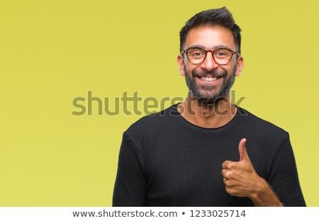 dikey · görüntü · sakallı · adam · gömlek - stok fotoğraf © imagedb