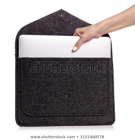 Blue textile laptop bag Stock photo © shutswis