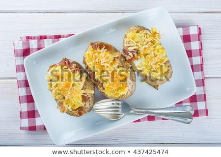 Double cheese twice baked potato  Stock photo © Digifoodstock