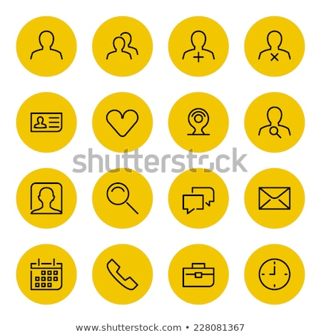 Stok fotoğraf: Telefon · sarı · vektör · ikon · düğme · dizayn