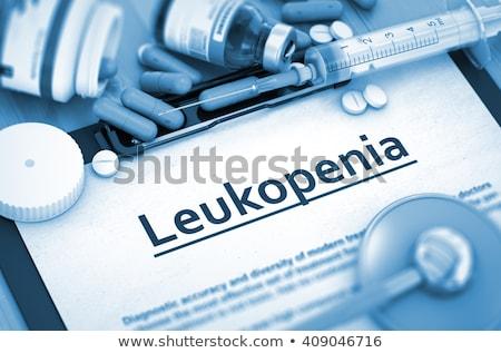 ストックフォト: 診断 · 医療 · 3dのレンダリング · レポート · 青 · 錠剤