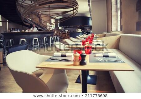 Luxo clássico restaurante interior detalhes luz Foto stock © mady70