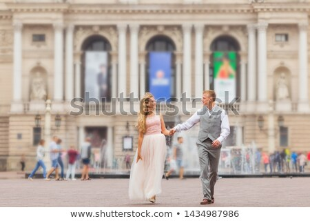 fiance, bride and the fountains Stock photo © Paha_L