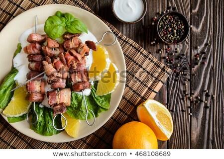 Shish kebab and crispy bacon Stock photo © Digifoodstock