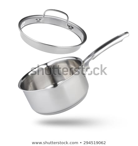 stainless pans isolated on white Stock photo © shutswis