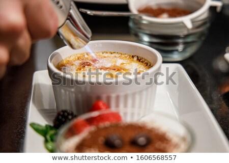 Natillas desierto cocina antorcha preparado Foto stock © ozgur