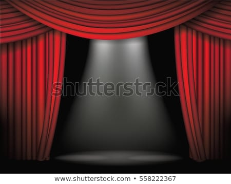 Stock photo: Red curtain background template. EPS 10