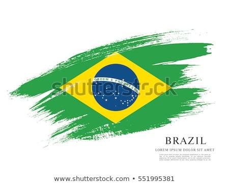 Гранж Бразилия флаг эффект спортивных Сток-фото © kjpargeter