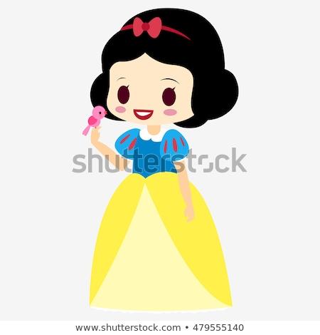 gyönyörű · gótikus · lány · fenséges · ruha · tart - stock fotó © dazdraperma