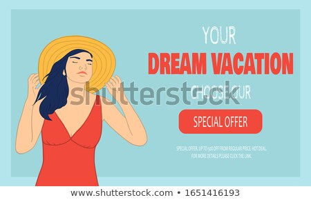 Book with red covers on summer vacation beach holiday Foto stock © stevanovicigor