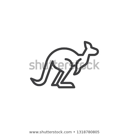Kangaroo Icon Vector Stock photo © Ggs