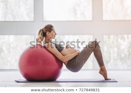 Girl with fitball Stock photo © bezikus
