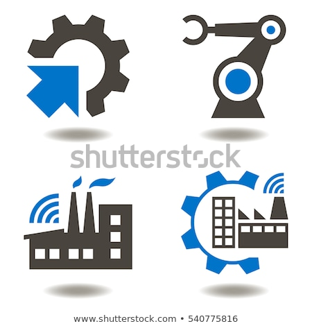 Robot ikonok ikon szett technológia monitor retro Stock fotó © Genestro