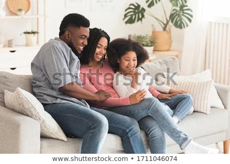 moeder · vader · kinderen · kaukasisch · meisje · vergadering - stockfoto © giulio_fornasar