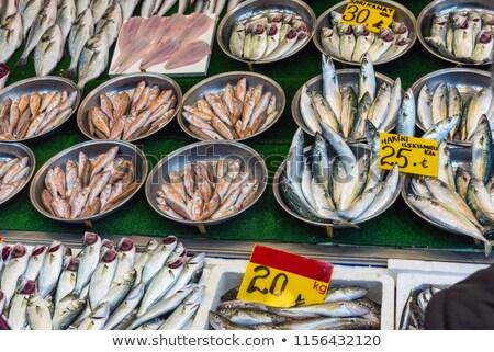 vers · vis · markt · Turkije · voedsel - stockfoto © elxeneize