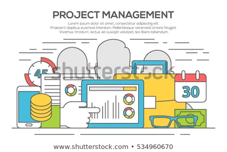Project Management concept with Doodle design style :people inteview Stock photo © DavidArts