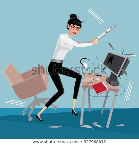jefe · gritando · empleado · trabajo · empresario · trabajador - foto stock © jossdiim