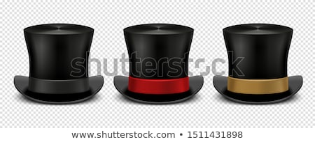 A white magician hat with a red ribbon Stock photo © bluering