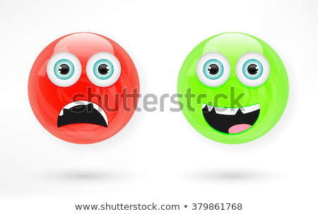 Rouge balle expressions faciales illustration yeux fond Photo stock © bluering