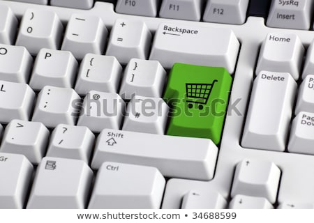 keyboard green shop cart key stock photo © oakozhan