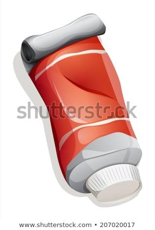 Rood buis illustratie witte geneeskunde Stockfoto © bluering