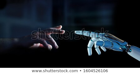 3D rendering of mechanical on a dark background Stock photo © tracer
