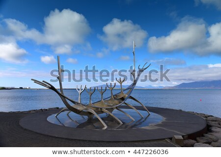 The Sun Voyager in Reykjavik, Iceland Stock photo © kb-photodesign
