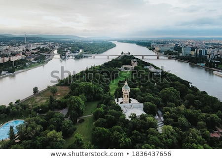 Budapest Danube water tower in the forest. Stock photo © justinb