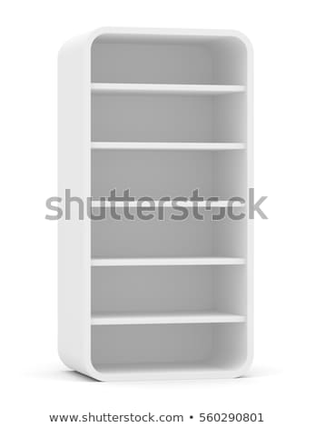 Blank empty rounded showcase display. Front view Stock photo © cherezoff