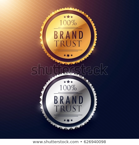 brand trust label design in gold and silver Stock photo © SArts