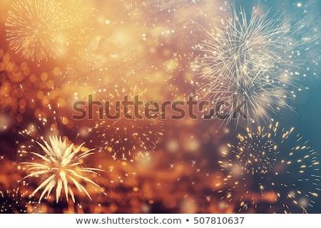 Сток-фото: Новый · год · фейерверк · празднования · счастливым · фон · фары