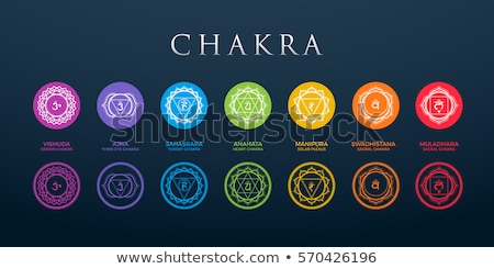 seven chakras symbols stock photo © adrenalina