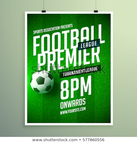 abstract vector football sports flyer poster template design in stock photo © sarts